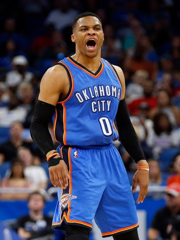 Russell Westbrook's 38th triple-double of the season