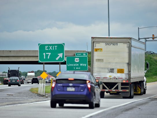 Traffic occassionally backs up on Interstate 81 at