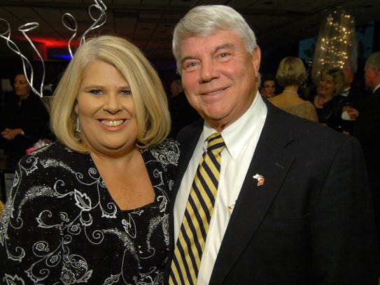 Pam Nash, left, and Jimmy Eldridge attend the 2011