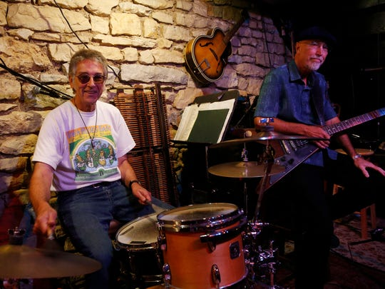 Bob Dorr (left) and Jeff Petersen are the founding members of The Blue Band. They will put on their final show at the Iowa State Fair on Aug. 19 as part of their The Last Goodbye Tour. (Thursday, Aug. 10, 2017)
