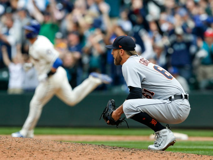 May 20, 2018; Seattle, WA, USA; Detroit Tigers reliever