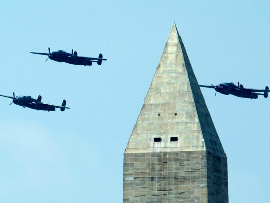 AP WORLD WAR II FLYOVER A USA DC