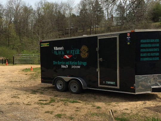 Dickson-based Wilkerson's Black Water Dive Service and Marine Salvage search in a rural area in Hickman County in May. The search in Hickman County was on its third day.