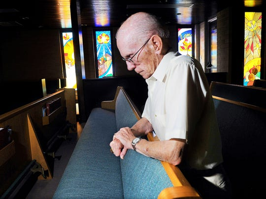 It is in quiet moments that he thinks of his wife, Kae. She died on Jan. 13, 2007 -- a Saturday night. His granddaughter and his pastor were by his side. His wife was in his arms.
