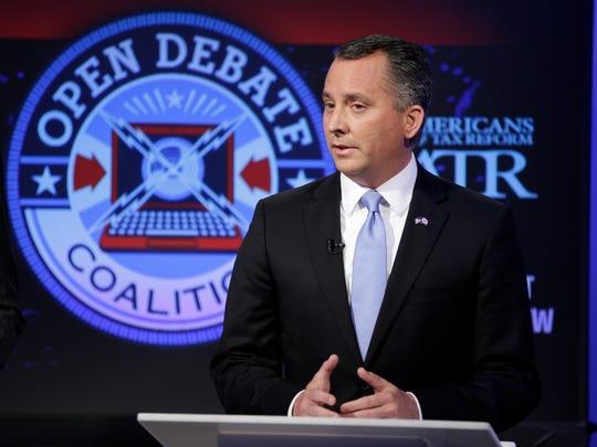 Rep. David Jolly, R-Fla., takes part in a U.S. Senate debate in Orlando on April 25, 2016.