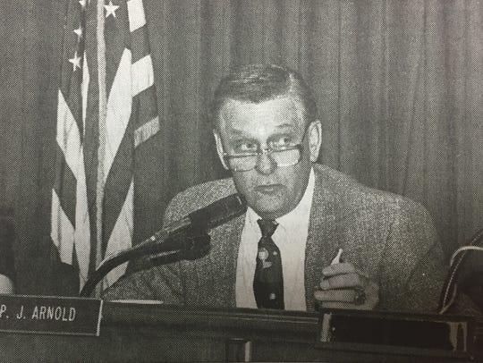 Rep. John Arnold, Jr., D-Sturgis, fielded questions