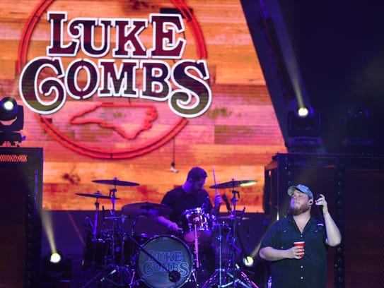 Luke Combs performs on Saturday, May 12, 2018 at Wells