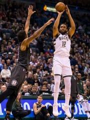 Apr 5, 2018; Milwaukee, WI, USA; Milwaukee Bucks forward