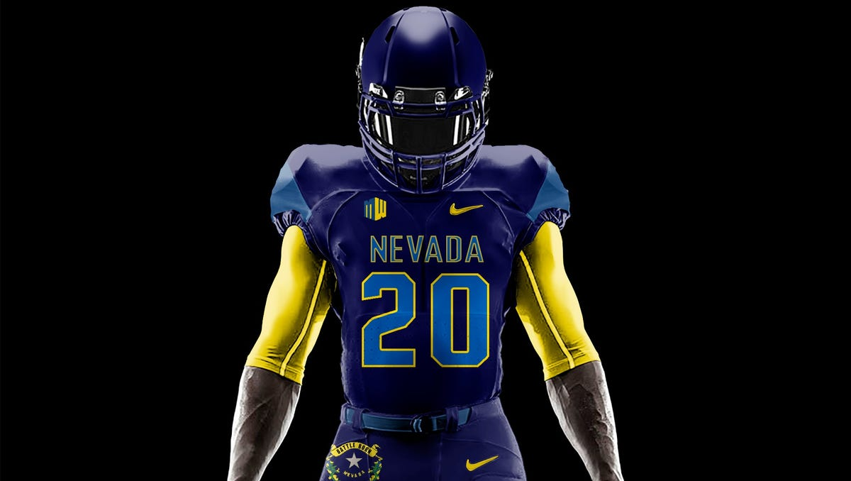 Nevada State Flag Wolf Pack Uniforms Awesome