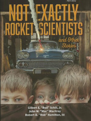 """Former Millburn residents Gilbert Schill Jr., Robert Hamilton III, and John MacIlroy wrote a book together """"Not Exactly Rocket Scientists."""" They came to Millburn Township for a panel discussion of the book and booksigning on April 26 and 27 2018."""