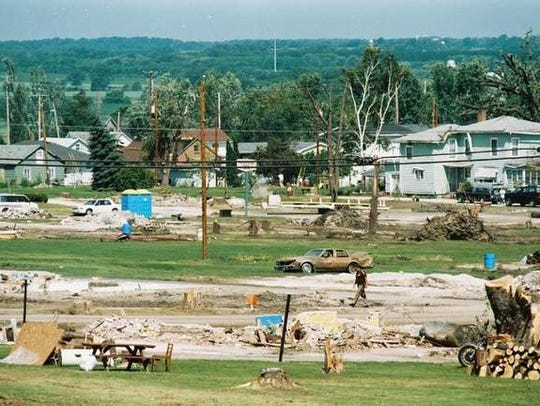July 18, 1996: The aftermath of the Oakfield, Wis.