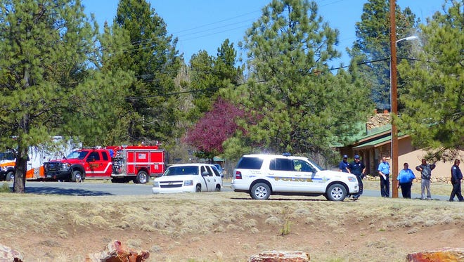 Emergency services, including the Ruidoso Fire Department, an ambulance and police officers responded last week to reports of a man down on the side of Paradise Canyon where it intersects with Country Club Drive. The man was not injured or in peril, it turned out. Apparently, during a domestic dust-up, he decided to take a walk, lie down and cool off.