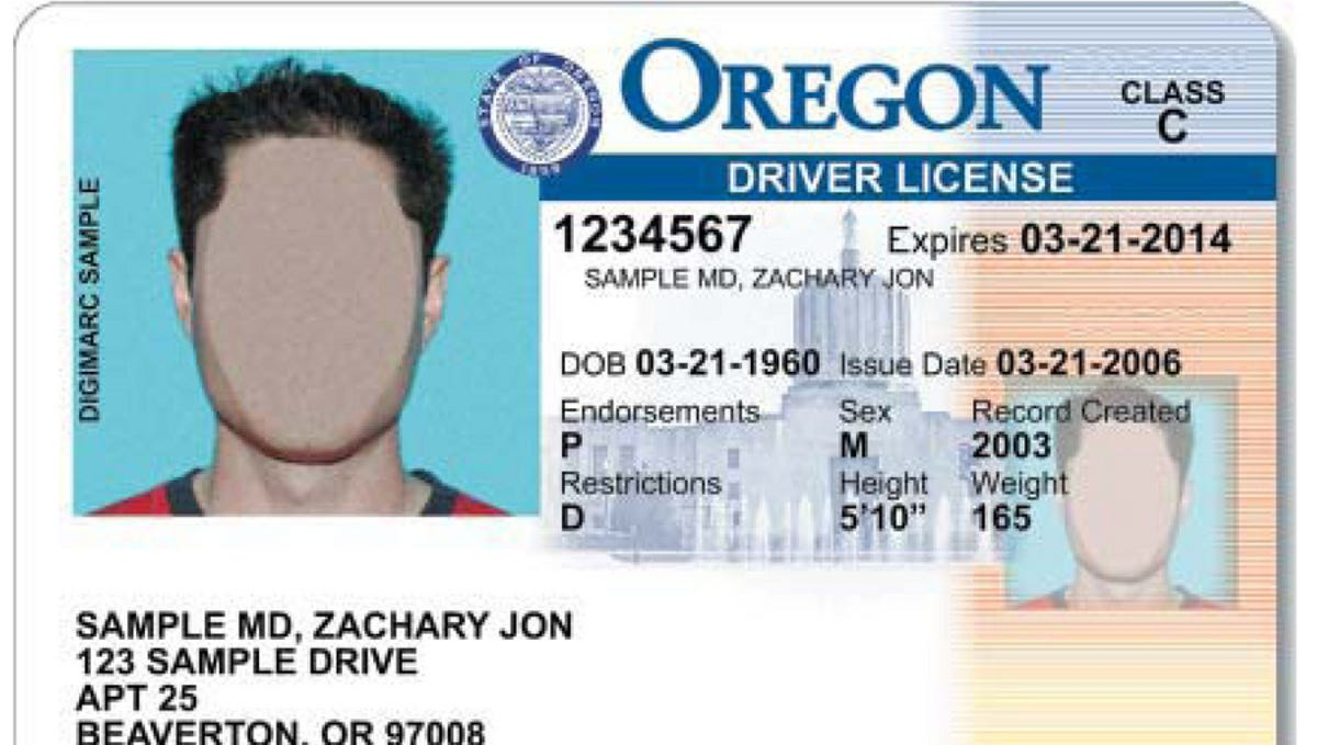 what class is a regular drivers license in oregon