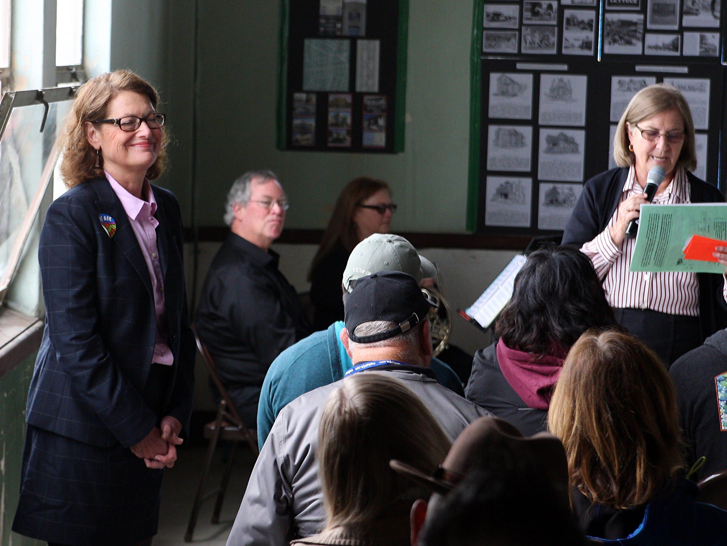 Dr. Carol McKibben spoke about her Salinas History