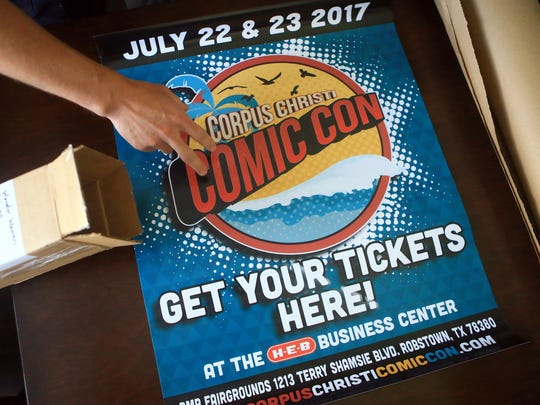 H-E-B is promoting posters for the Corpus Christi Comic Con on Saturday, July 8, 2017, in Corpus Christi.