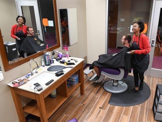 haircare specialist Tyler Barton