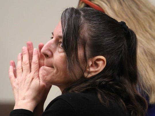 Michelle Lodzinski is shown in State Superior Court