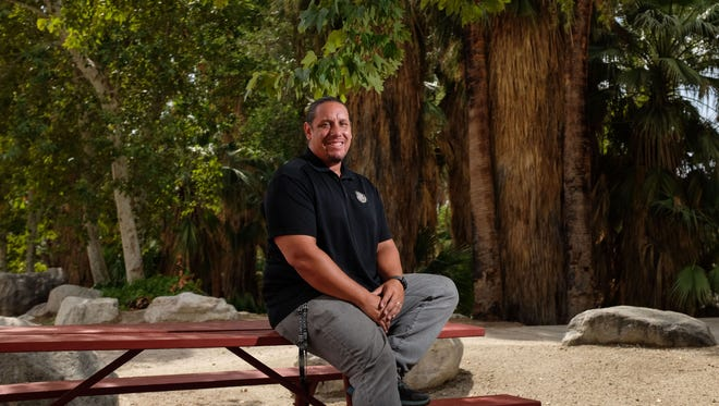 Jeff Grubbe the tribal chairman of the Agua Caliente Band of Cahuilla Indians on Thursday, August 3, 2017 at the Indian Canyons in Palm Springs.