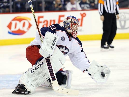 NHL: Columbus Blue Jackets at Winnipeg Jets