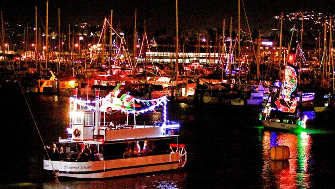 Tours to see the Ventura Harbor boat parade are among the offerings of California Sleigh Rides.