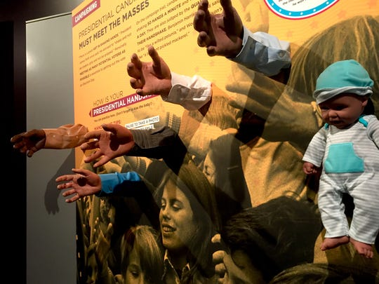 Practice your handshake at 'Headed to the White House' at the National Constitution Center.