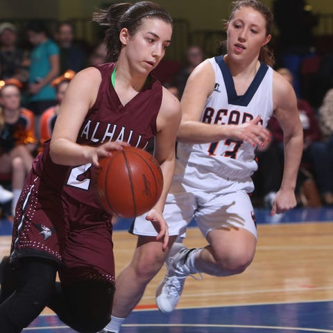 Briarcliff defeated Valhalla 39-27 in girls...