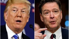 President Trump (left) and James Comey (right).