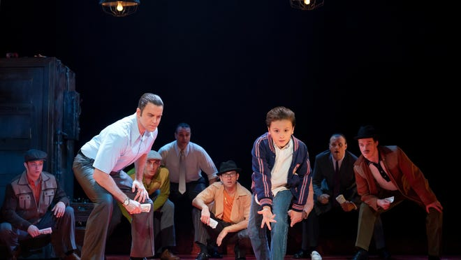 """Jeff Brooks plays the mobster Sonny and Trey Murphy is the young Calogero in the musical """"A Bronx Tale.""""  The show will be at the Kravis Center on Tuesday to Jan. 12."""