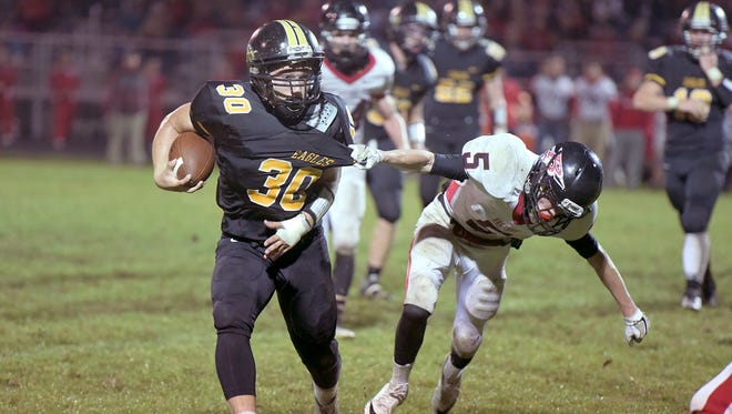Trevor Shawber, coming off a 1,000-yard season, takes over full for Blake Treisch and he'll look to mimic his predecessor's dominant running.