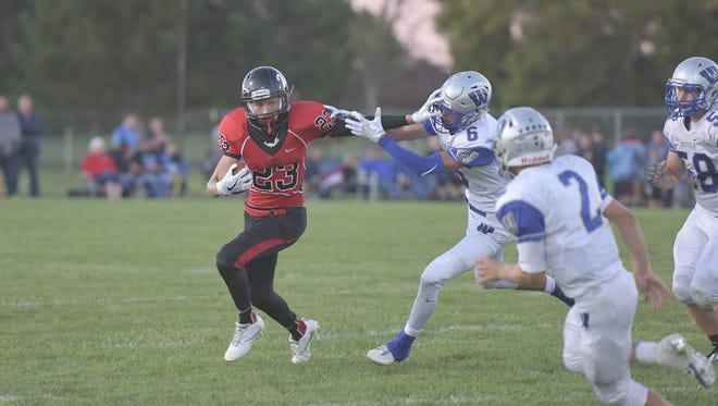 Junior Harley Robinson, coming off an N10-best 747 yards receiving last year, returns as one of the go-to targets for the Redmen this season on offense.
