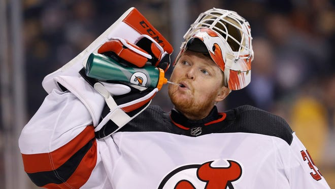 Cory Schneider will be back in net for the first time since March 8 as the Devils face San Jose.