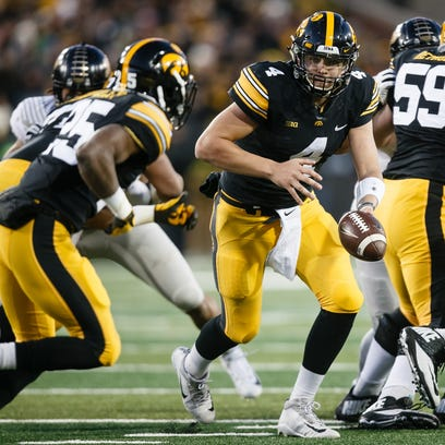 Iowa's Nate Stanley (4) hasn't had enough opportunities