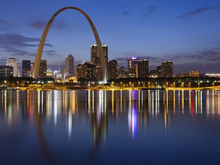 Missouri - The Gateway Arch, also known as the gateway
