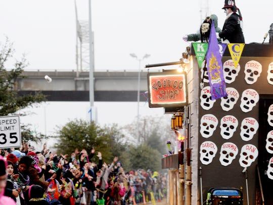 Krewe of Centaur Mardi Gras Parade Saturday afternoon