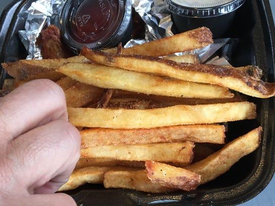 The fries at Riverside Grillshack in East Nashville
