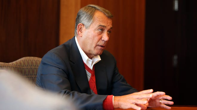 House Speaker John Boehner discusses Obamacare with The Enquirer Editorial Board in March.