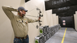 Cabela's archery tech Billy Meeks takes aim in the