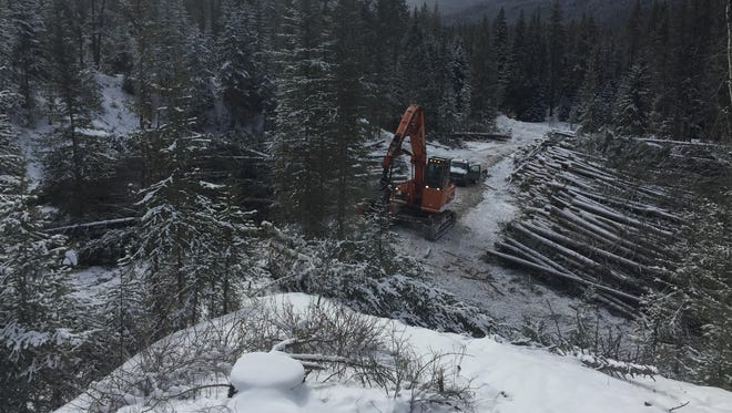 Work at the Benchmark logging project occurs in February in Helena-Lewis and Clark National Forest. The forest has approved another vegetation treatment project in the forest north of White Sulphur Springs.