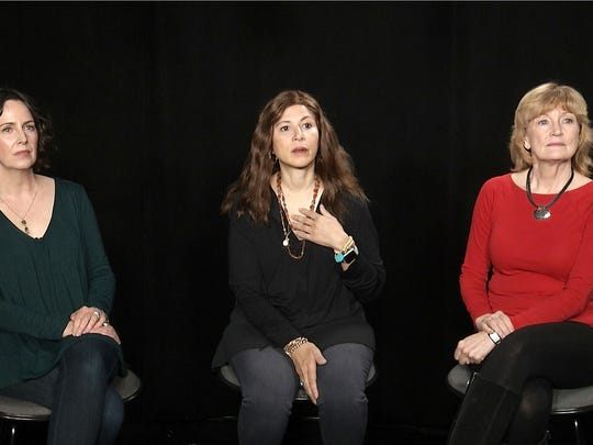 Three of Dustin Hoffman's accusers, Anna Graham Hunter,