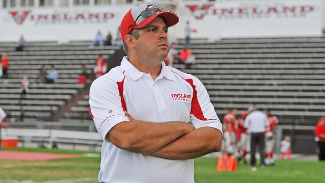 Phil Brunozzi has rejoined the Vineland football coaching staff after resigning as head coach of Paul VI on Oct. 5.