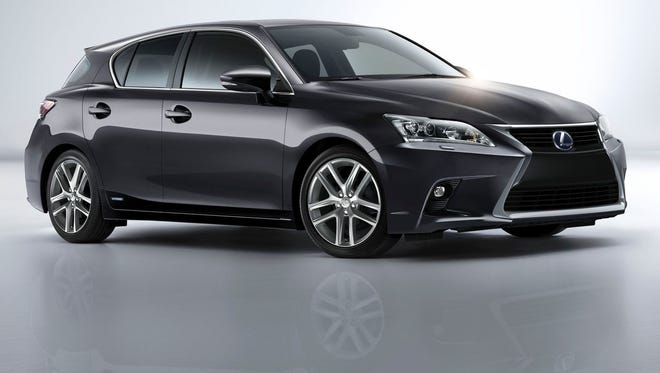 Lexus gives its distinctive brand look to the CT