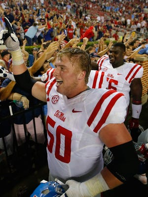 Sean Rawlings is in his first season as a full-time starter on Ole Miss' offensive line.