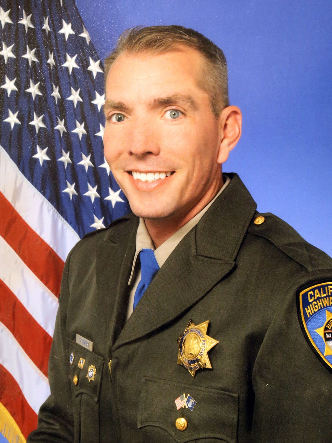 Officer Dane Norem, California Highway Patrol portrait