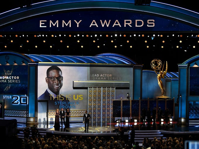 Sterling K. Brown accepts the award for lead actor
