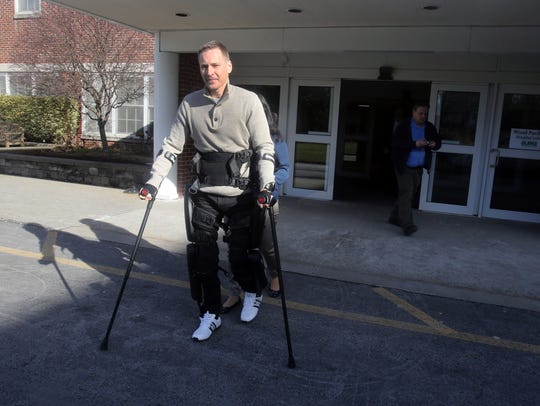 Rusty Chmelovsky, 39, a patient at Burke Rehabilitation