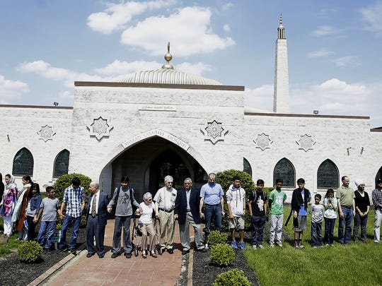 "This ""interfaith peace ring"" was formed Sunday around the mosque at the Islamic Center of Greater Cincinnati in West Chester Township."