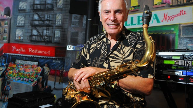 Sonny Petrillo of West Melbourne has owned four restaurants in Brevard and been performing, singing and playing the saxophone for the past 60 years. He entertains the dinner crowd at his son's restaurant, Petrillo's in Indialantic.