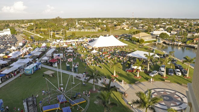Aerial view of Veterans Community Park.