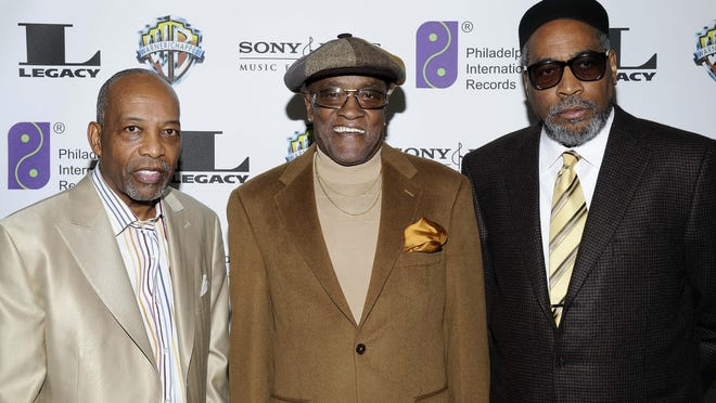 "From left, Leon A. Huff, cofounder and vice chairman of Philadelphia International Records, singer Billy Paul and Kenneth Gamble arrive at ""A Special Evening of Conversation Insight and Music"" in Los Angeles in 2008. Paul, the soul singer best known for the No. 1 hit ballad ""Me and Mrs. Jones,"" died Sunday."