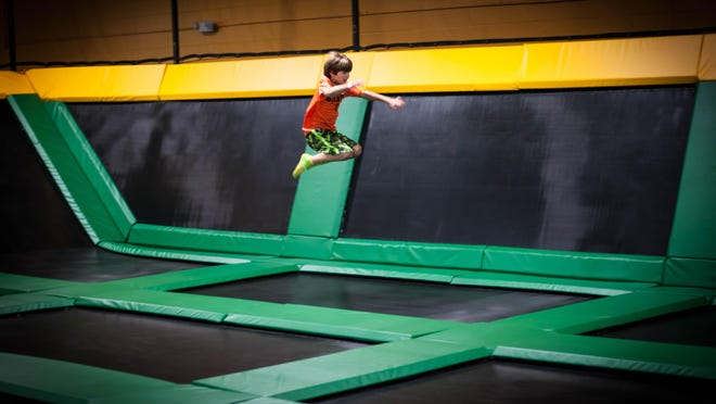 The new Rockin' Jump will offer open jumping on trampolines in a kid-friendly environment.